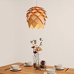 Echinacea modernen Holz-Anhänger, 1 Licht, Krim-Tannenzapfen, 40cm