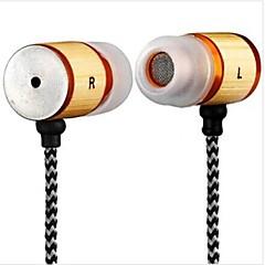 yafox ® אוזניות DT-mb057ear עם מחבר 3.5mm המיקרופון עבור iPhone / htc / חומר במבוק סמסונג