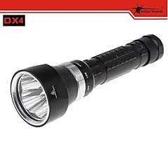 DX4 solarstorm 4 * cree xm-l u2 cw 3 modes 3200lm plongée a conduit lampe de poche
