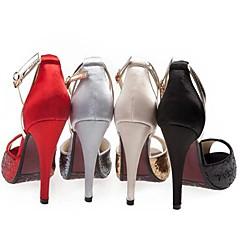 Women's Wedding Shoes Heels/Peep Toe/Platform Heels Wedding/Office & Career/Dress/Party & Evening Black/Red/Silver/Gold