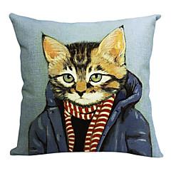 moderne kølig kat bomuld / hør dekorative pudebetræk