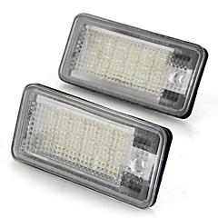 נורות מנורות לוחית רישוי מכונית זוג לבנה 18 SMD הובילו 12v אורות לRS6 A3 אאודי A4 A6 8e RS4