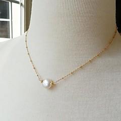 Женский Ожерелья с подвесками Жемчуг Сплав Простой стиль европейский Бижутерия Для