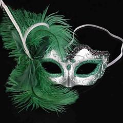 Maska Kostra/Czaszka Festival/Svátek Halloweenské kostýmy Zelená Jednobarevné Maska Halloween Dámské PVC