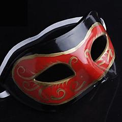 Masque Cosplay Fête / Célébration Déguisement d'Halloween Rouge Noir Imprimé Masque Halloween Masculin PVC