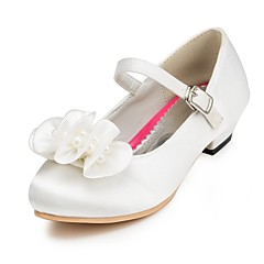 Heels Spring Summer Fall Winter Comfort Light Up Shoes Satin Wedding Flat Heel Pearl Pink Red Ivory White