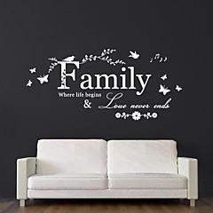 jiubai® familie citat wallsticker wallstickers