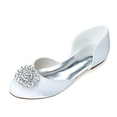 Women's Wedding Shoes Round Toe Flats Wedding/Party & Evening Black/Blue/Pink/Purple/Ivory/White/Silver