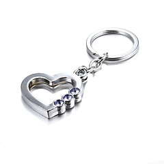 3d bling do cristal roxo liga de zinco misterioso coração chaveiro (primeiros 10 clientes com caixa acrescentado)