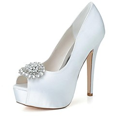 Women's Wedding Shoes Heels/Peep Toe/Platform Heels Wedding/Party & Evening Black/Blue/Pink/Purple/Ivory/White/Silver