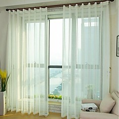 Sheer Cross Faux Linen Screens Sheer Curtains Drapes Two Panel