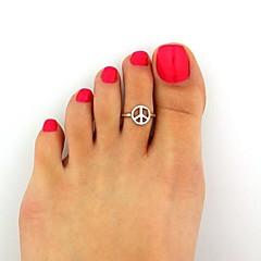טבעות לנשים לא אבן סגסוגת סגסוגת מתכוונן כסף ניתן להתאים את מידת הטבעת.