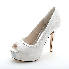 Women's Spring / Summer / Fall / Winter Heels / Peep Toe / Platform Satin Wedding / Party & Evening Stiletto HeelBlack / Blue / Pink /