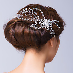 Women's Alloy / Cubic Zirconia Headpiece-Wedding / Special Occasion Flowers / Hair Pin Clear
