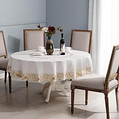 kerek asztalterítő pamut asztalterítő abrosz klasszikus kézzel 175cm