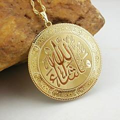 18k pozłacane wisiorek muzułmański Allah
