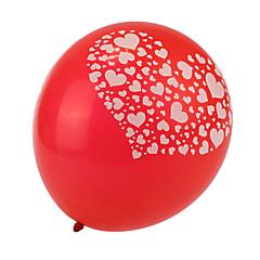 extra grote maat rode dikke hart gebroken ronde ballonnen - set van 24