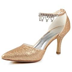 Zapatos de boda - Tacones - Tacones / Puntiagudos - Boda - Negro / Rosa / Rojo / Marfil / Blanco / Plata / Champán - Mujer