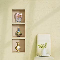 3D Lattice Vase Ceramic Wall Stickers Wall Decals