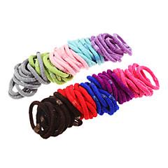 100peças multicolor faixas de cabelo macios