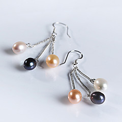 Natural Pearl 925 Sterling Silver Earring