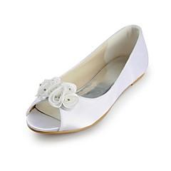 Women's Wedding Shoes Peep Toe Flats Wedding/Party & Evening Ivory/White