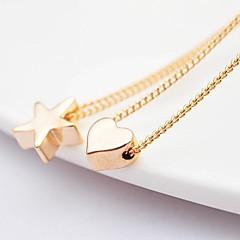 Módní aolly pěticípá hvězda a milují módu náhrdelníky (random delivery)