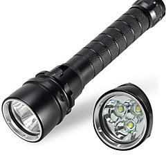 Lampe torche 4000lm étanche 30W 3x cree xml t6 conduit lampe de poche sous-marine