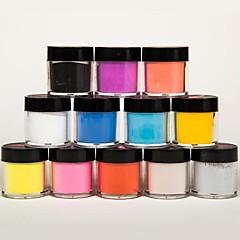 sekoitettu 12 väriä kynsikoristeet kuvanveistoa veistos veistämällä akryyli jauhe kuvanveistoa kynnet kukka DIY 3d kynsien koristeet