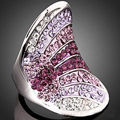 Maxi anel Zircônia Cubica Strass 18K ouro Liga Moda Jóias da indicação Jóias de Luxo Cor Ecrã Jóias Festa 1peça