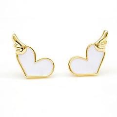 Fashion Alloy Drip Love Fashion Earrings(More Color)