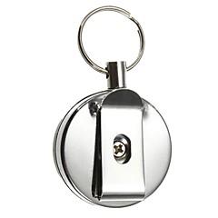 Schlüsselanhänger Kreisförmig Gute Qualität Schlüsselanhänger / Einziehbar Silber Edelstahl