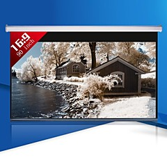 1080p의 90 인치 16 : 9 전동 프로젝터 스크린
