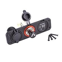 デュアルUSBアダプター充電器デジタル電圧計ソケット