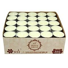 tealightkaarsen witte ongeparfumeerde set van 100