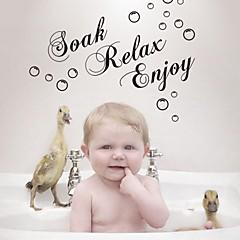 badkamer sticker muurstickers muur stickers, genieten van ontspannen genieten badkamer sticker