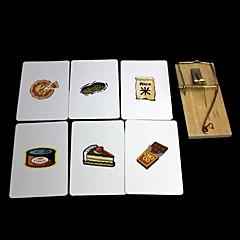 kouzelné rekvizity - hledá karty pastičky na myši