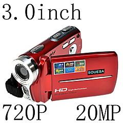 HD 720p 20mp 16x zoom digitaalisen videokameran videokamera dv punainen