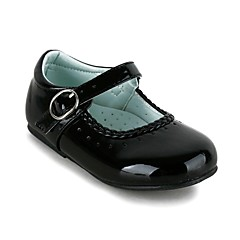 Girl's Spring / Summer / Fall / Winter Comfort / Mary Jane Leatherette Wedding / Dress / Casual / Party & Evening Flat Heel Buckle Black