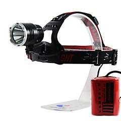 Richuang RC-0188D Rechargeable 3-Mode 1x Cree XM-L L2 15W Headlamp(980LM, 4x26650, Black)
