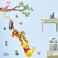 Tiere / Cartoon Design / Romantik / Stillleben / Mode Wand-Sticker Flugzeug-Wand Sticker Dekorative Wand Sticker,PVC Stoff AbziehbarHaus