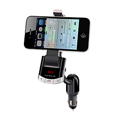 Bluetooth Handsfree Car Kit , Bluetooth 4.0/FM Transmitter/Car Charger/Mobile Phone Holder