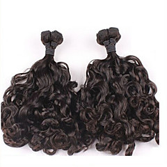 "3pcs/lot Peruvian Hair Curly #1B 10"" ~ 34"" Funmi Hair Weaves"
