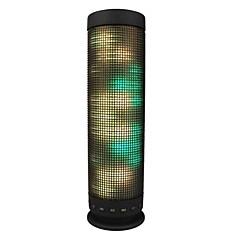 Vezeték nélküli Bluetooth hangszóró LED fény Bult mikrofonnal Támogatott külső memóriakártya Sztereó