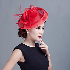 Women Wedding Party Sinamay Feather Bridal Fascinators Hats