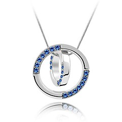 Halsband (Legering , Purpur/Blå/Rosa/Vit) - till Kristall/Cubic Zirconia
