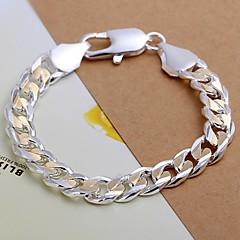 Heren Armbanden met ketting en sluiting Verzilverd Sieraden Voor Bruiloft Feest Dagelijks Causaal Kerstcadeaus 1 stuks