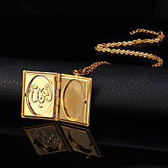 Women's Pendant Necklaces Lockets Necklaces Copper Gold Plated 18K gold Fashion Jewelry Wedding 1pc