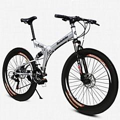 Geländerad Falträder Radsport 21 Geschwindigkeit 26 Zoll/700CC 50mm Herren Damen Unisex Erwachsener SHINING SYS Doppelte Scheibenbremsen