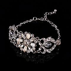 Berlock Armband Pars/Dam Diamant/Kristall Silver/Legering